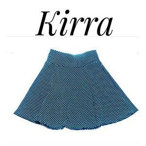 Kirra Skater Skirt Green/Black Size Small